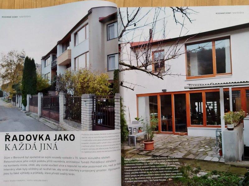 Berounská řadovka v časopise Můj dům