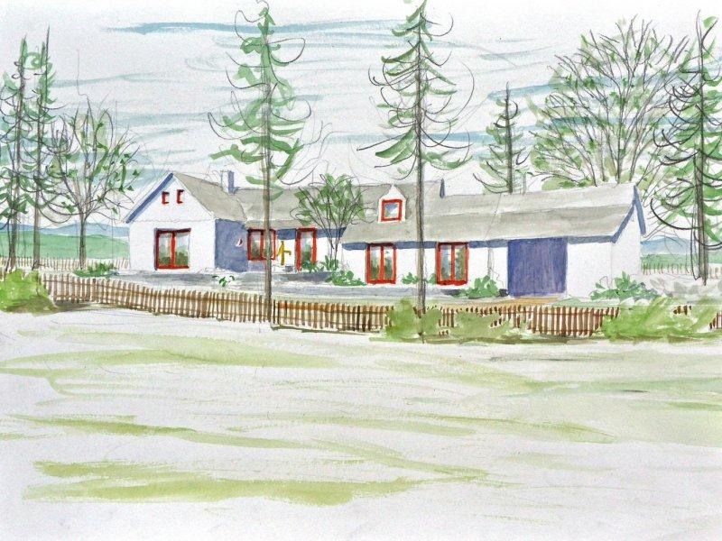 Dokončili jsme návrh přestavby a rozšíření domku v dlouhé zahradě na domažlicku