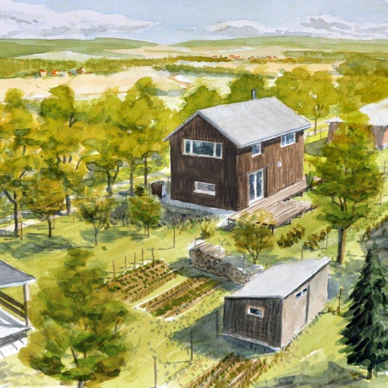 Přestavba chaty Družec