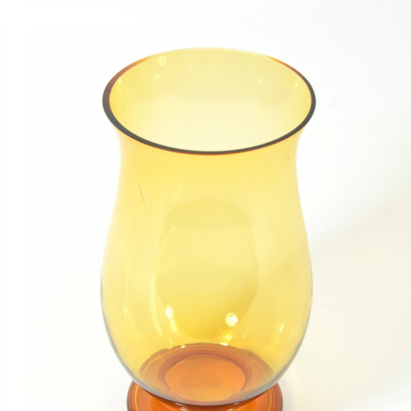 Czech amber glass vase Borocrystal