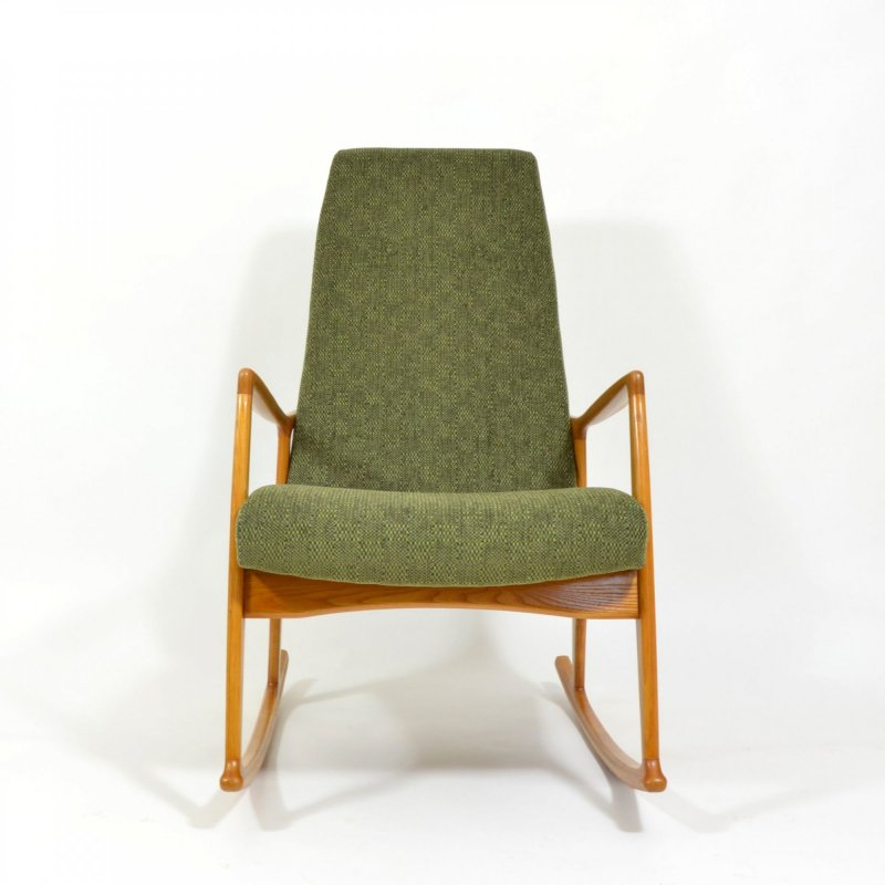 Green rocking chair 1960s