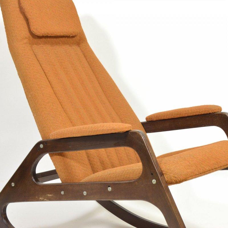 Vintage rocking armchair by ÚLUV