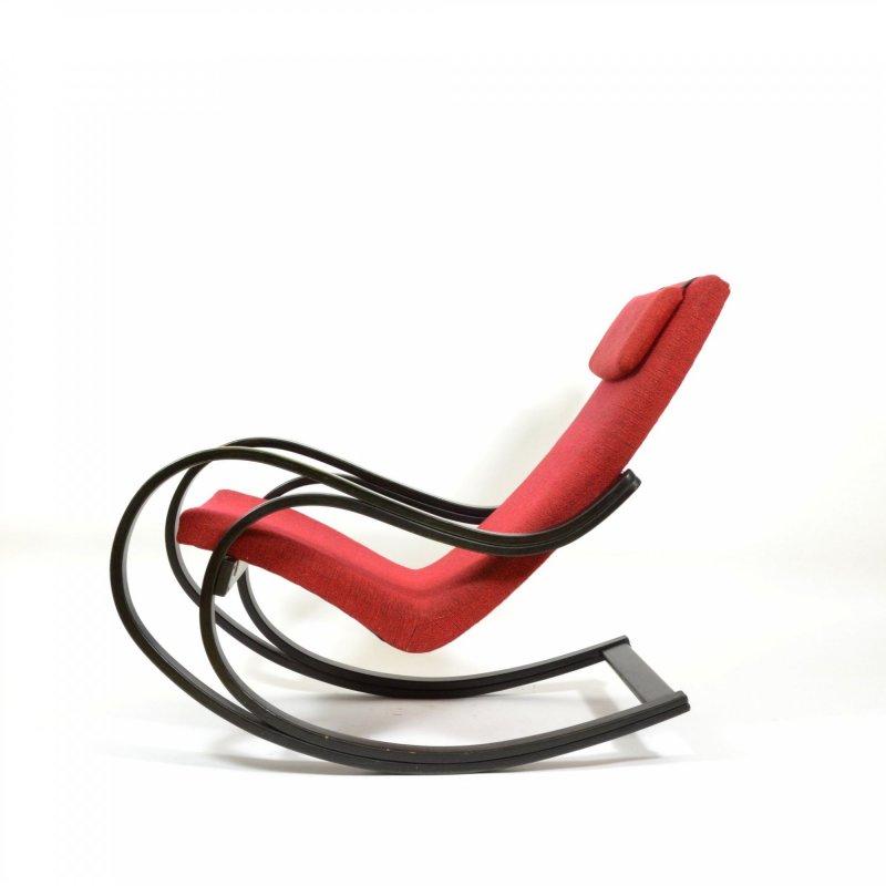 Vintage czech bentwood rocking chair