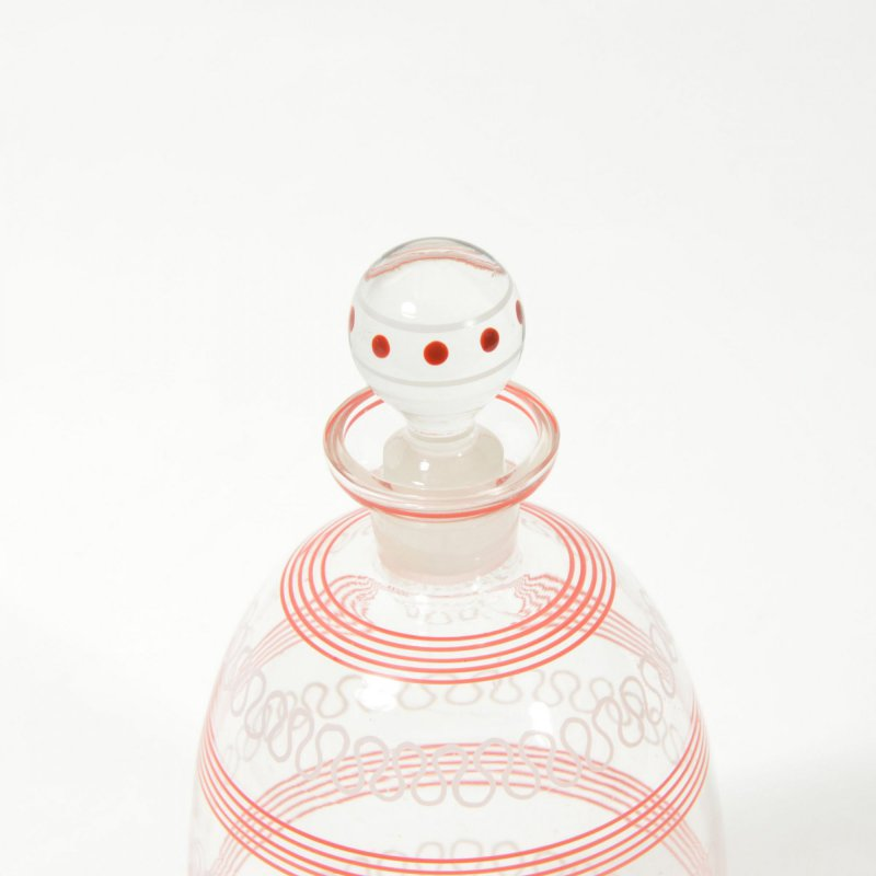 Glass stripe carafe