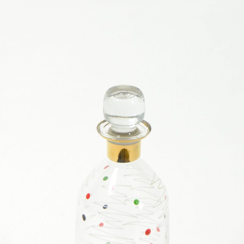Dots glass carafe