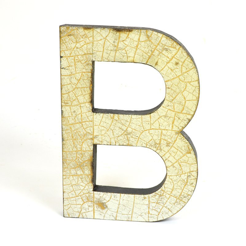 Kovové písmeno B