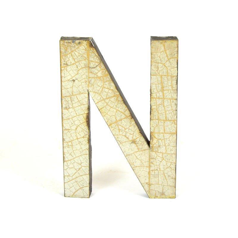 Kovové písmeno N