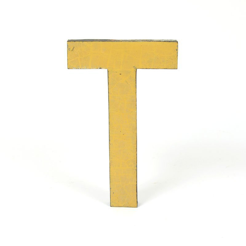 Metal letter T