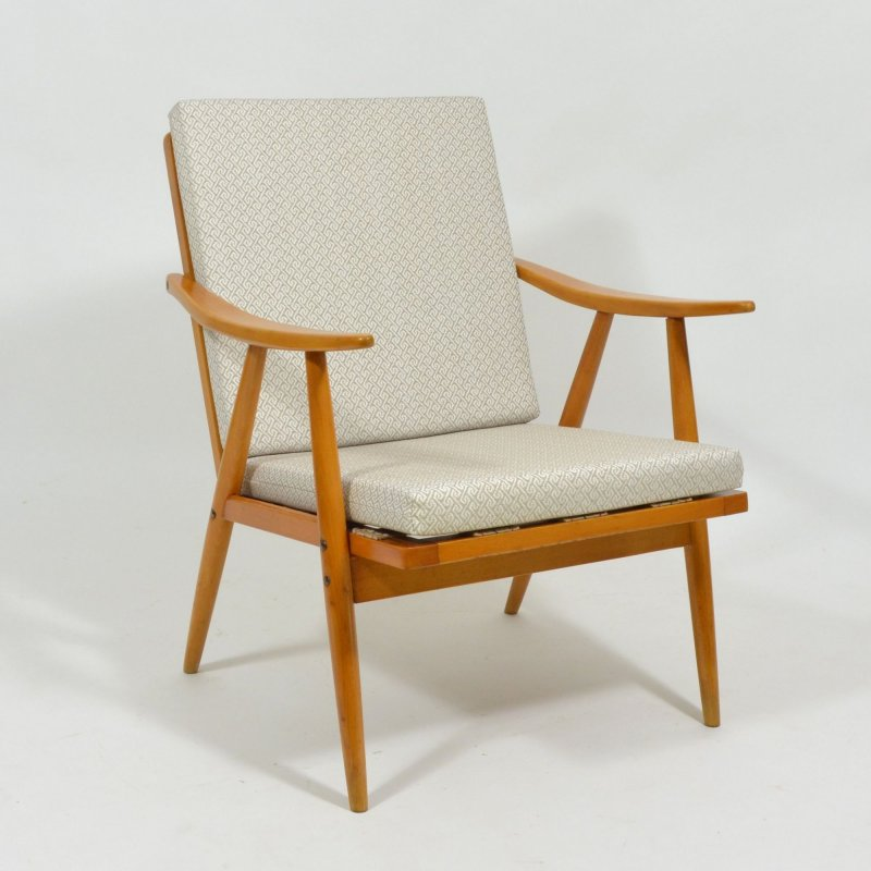 Armchair with removable cushion by Ton