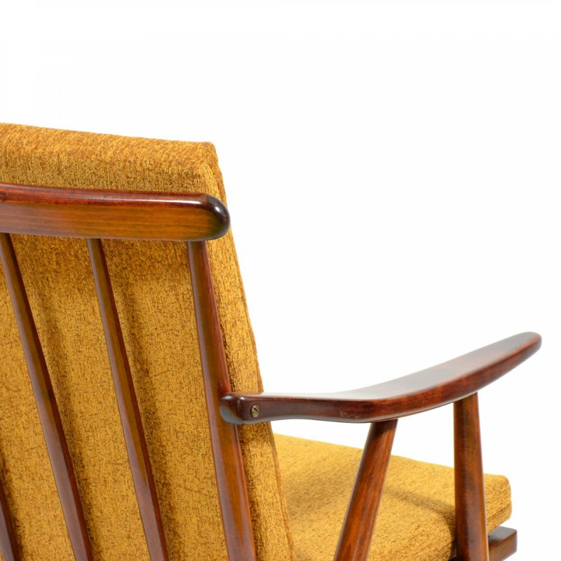 Armchair TON with removable cushion