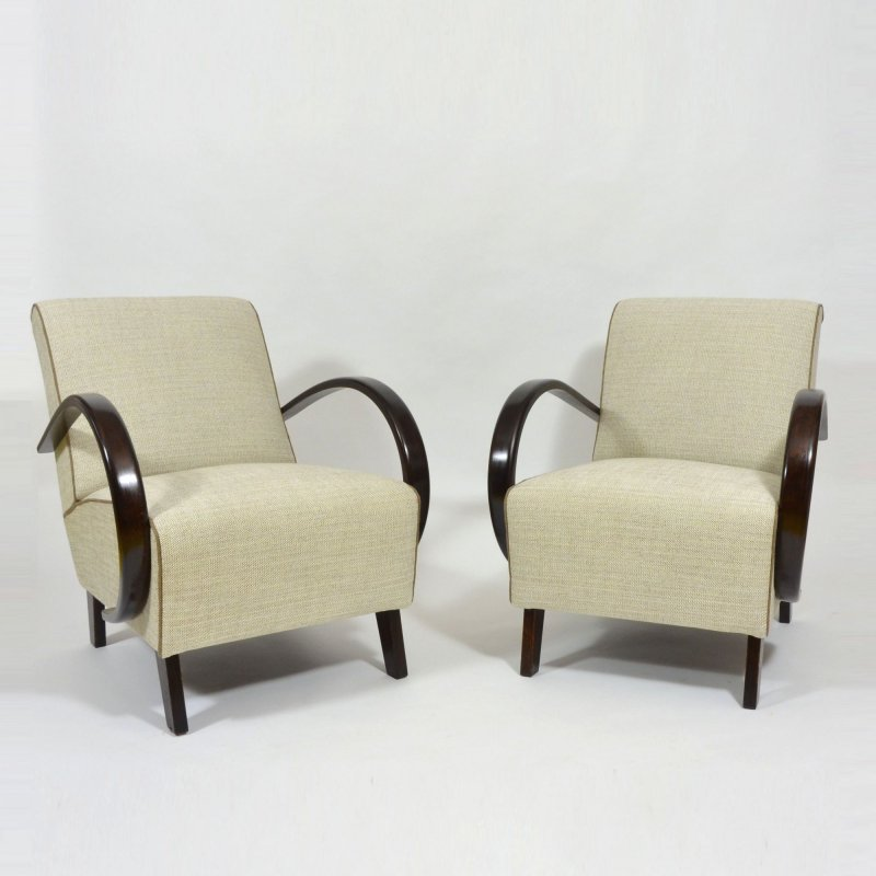 Restored Lounge Chairs By Jindrich Halabala