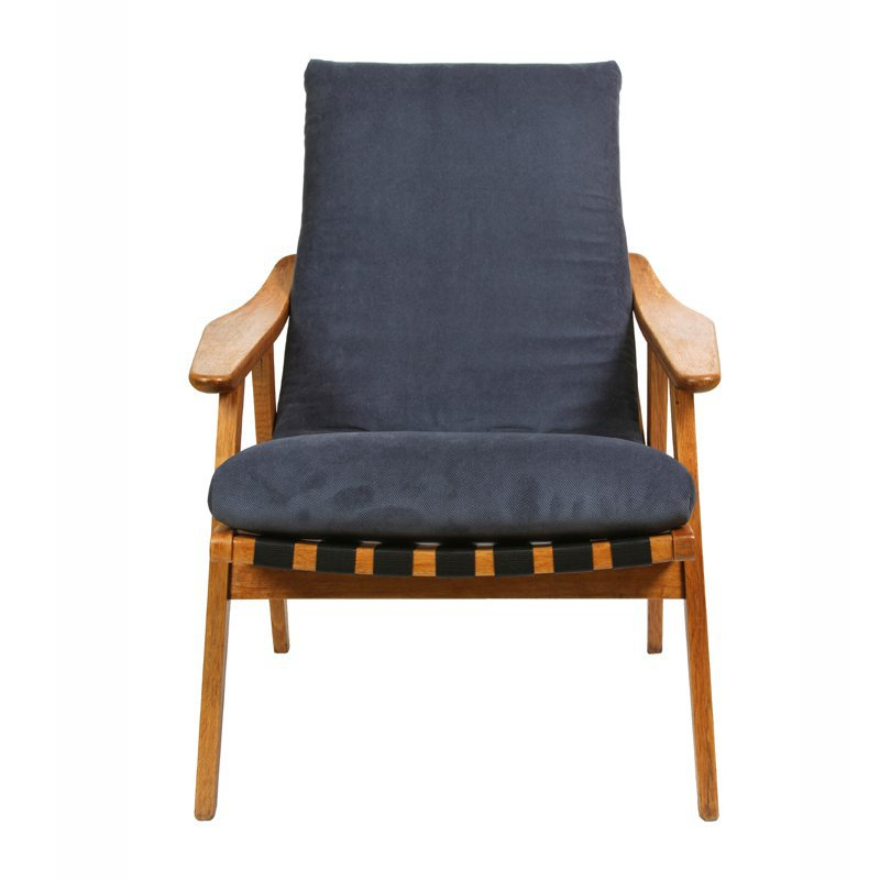 Armchair with straps