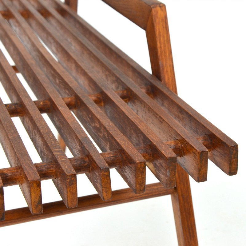 Slatted table