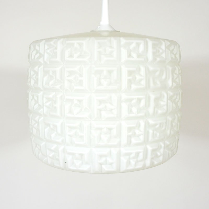 Ceiling with white lampshade