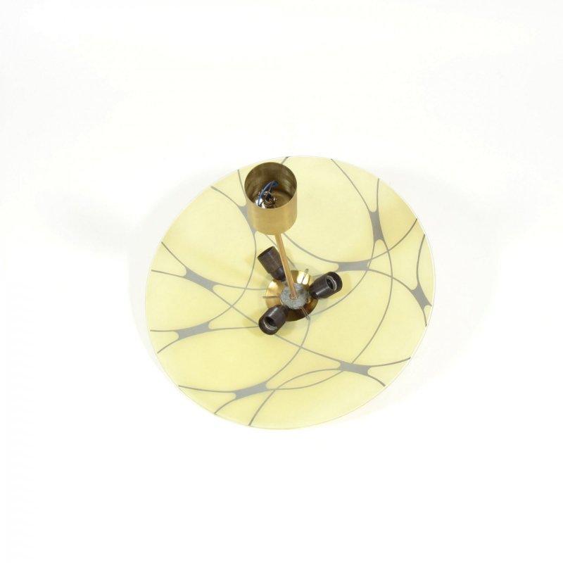 Lustr se skleněným talířem