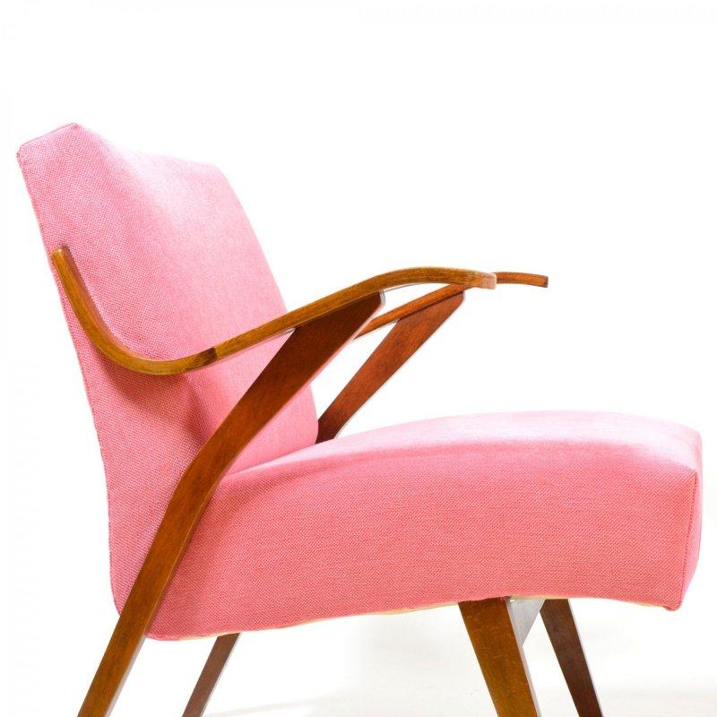 Set of vintage pink armchairs