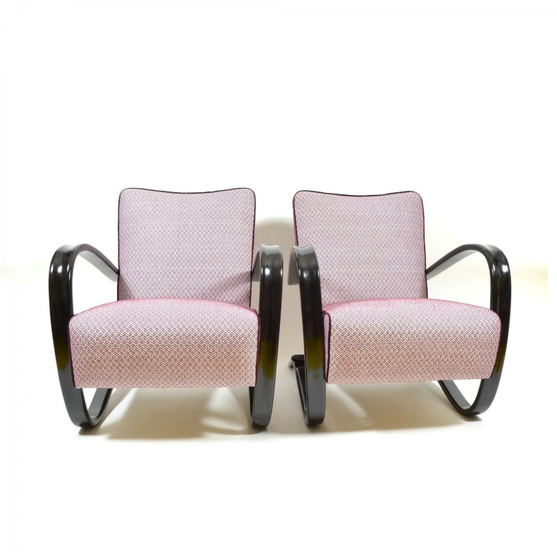 Pair of Halabala H-269 armchairs