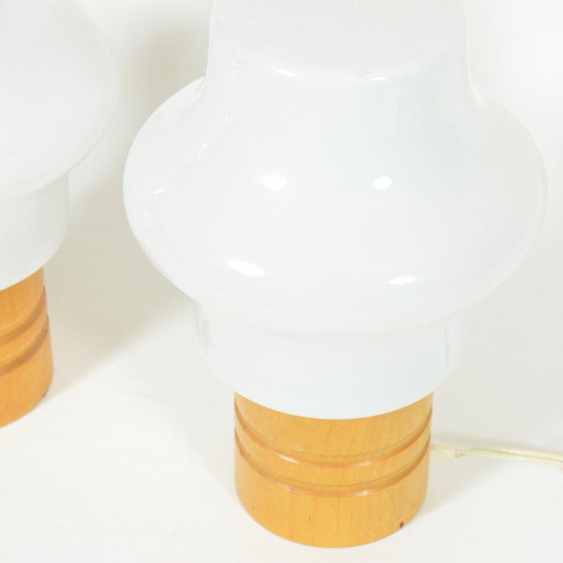 Pair bedside lamps