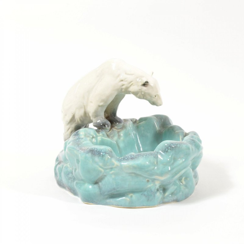Art Deco Polar Bear Ashtray