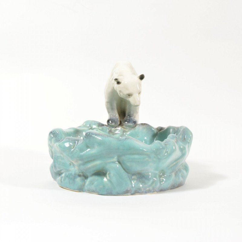 Art deco popelník lední medvěd