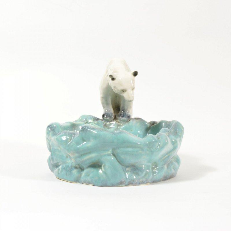 Art Deco Polar Bear Ashtray