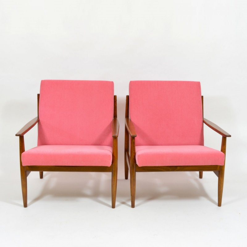 Pink TON armchairs