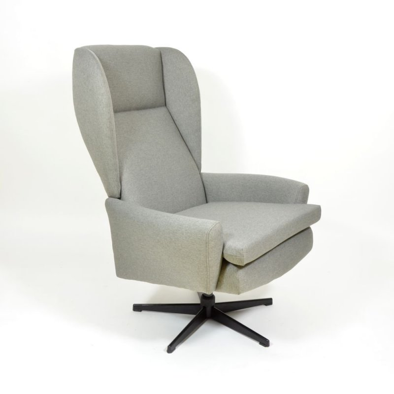 Grey swivel armchair