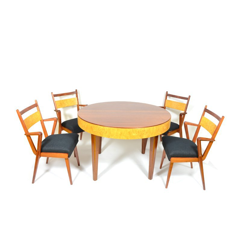 Set of table with chairs