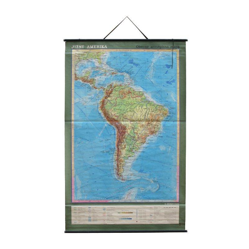 Školní mapa Jižní Ameriky