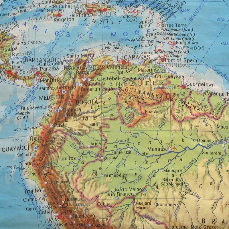 School map of South America