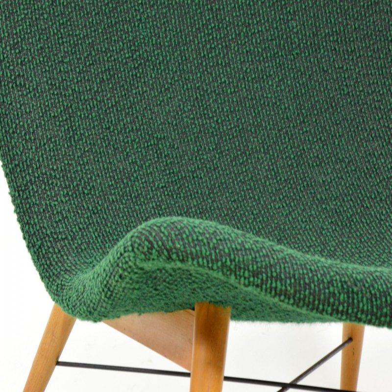 Skořepinové křeslo zelené