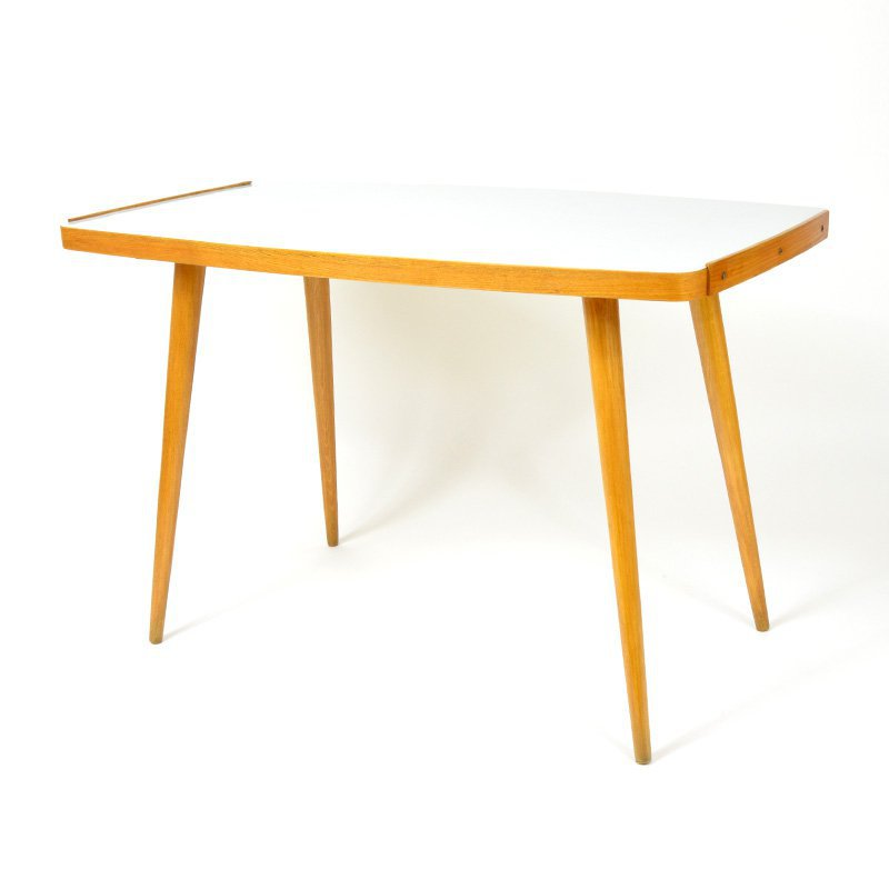 White desk coffee table
