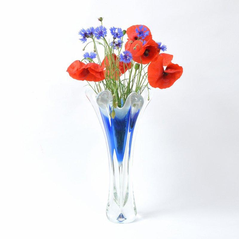 Váza modrý květ