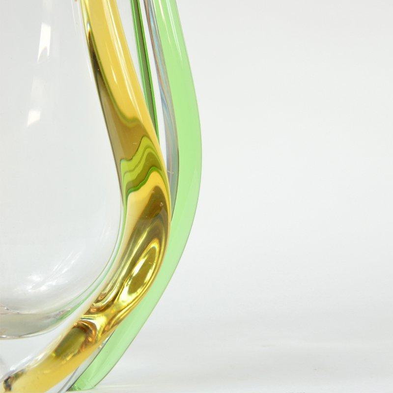 Blown-glass vase