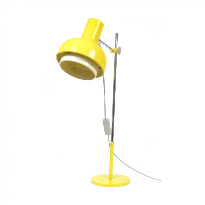 Big yellow table lamp