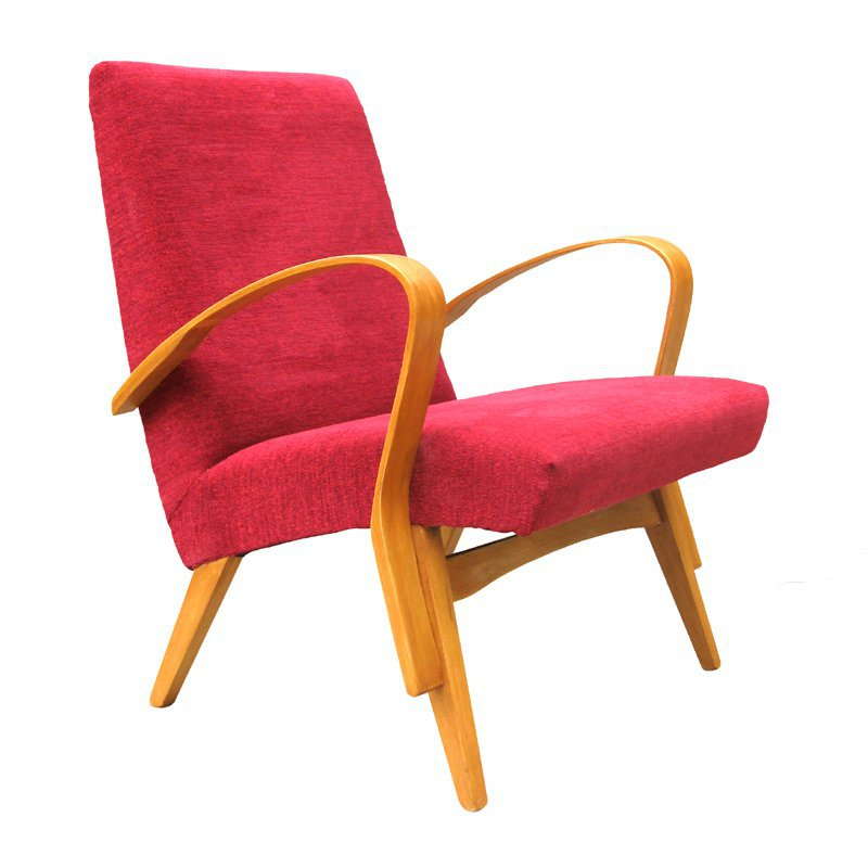 Armchair in wine red