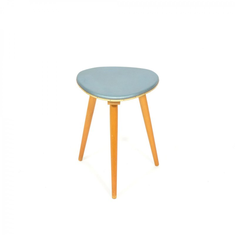 Grey tripod stool