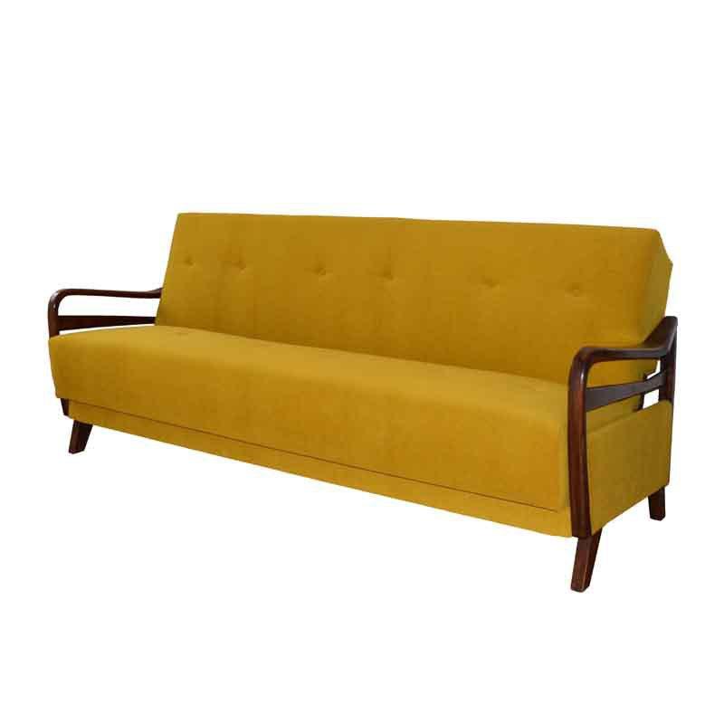 Yellow folding sofa